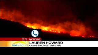 Latest update on the fire in Camps Bay, Lauren Howard reports