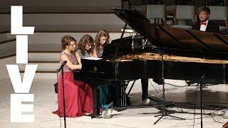 Gambar cover Carol of the Bells / God Rest Ye Merry Gentlemen (1 piano 6 hands) - by Matt Riley | Foto Sisters