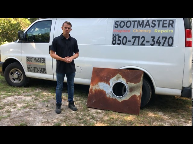 Rusted Chimney Chase Cover | Sootmaster Fireplace & Chimney Sweep