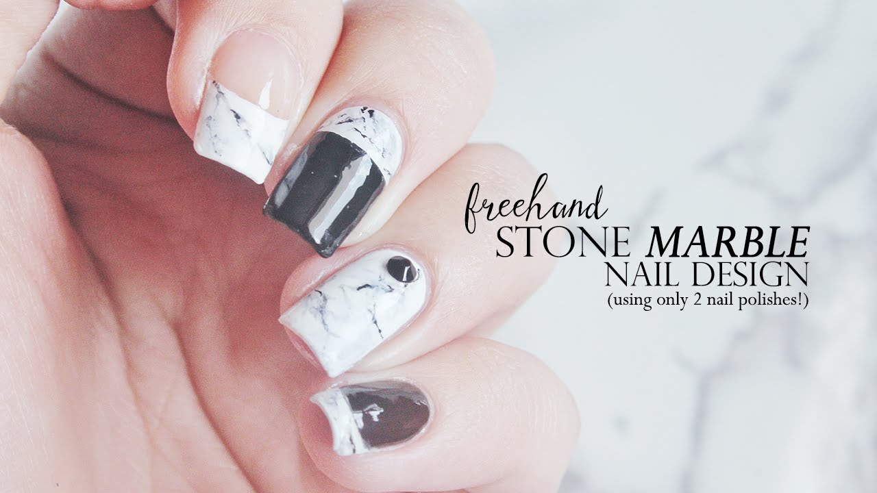 Freehand Easy Stone Marble Nail Art! (nail polish only)! | Annabel ...