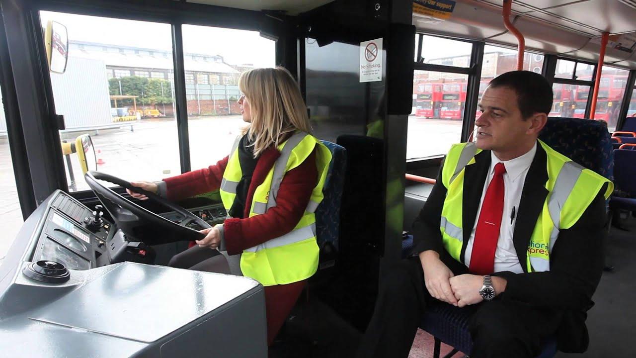 National Express West Midlands Mp Esther Mcvey Driving A