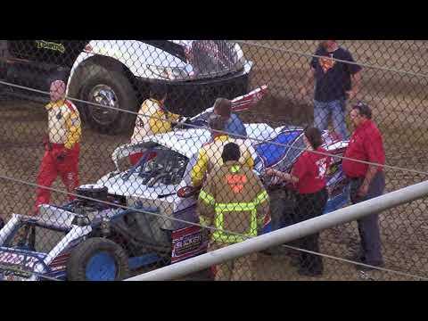 7 7 18 Merrill Downey Memorial Ump Modifieds Heat #5 Lawrenceburg Speedway