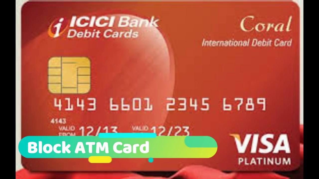 icici bank atm card code