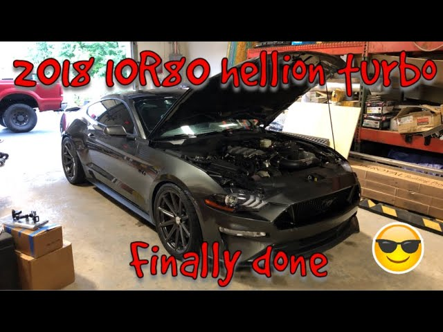 Sick 2018 Mustang GT 10R80 Twin Turbo 6266 Hellion Kit Install With Other Supporting Mods