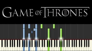 Game of Thrones (Piano Tutorial + sheets) - Main Theme