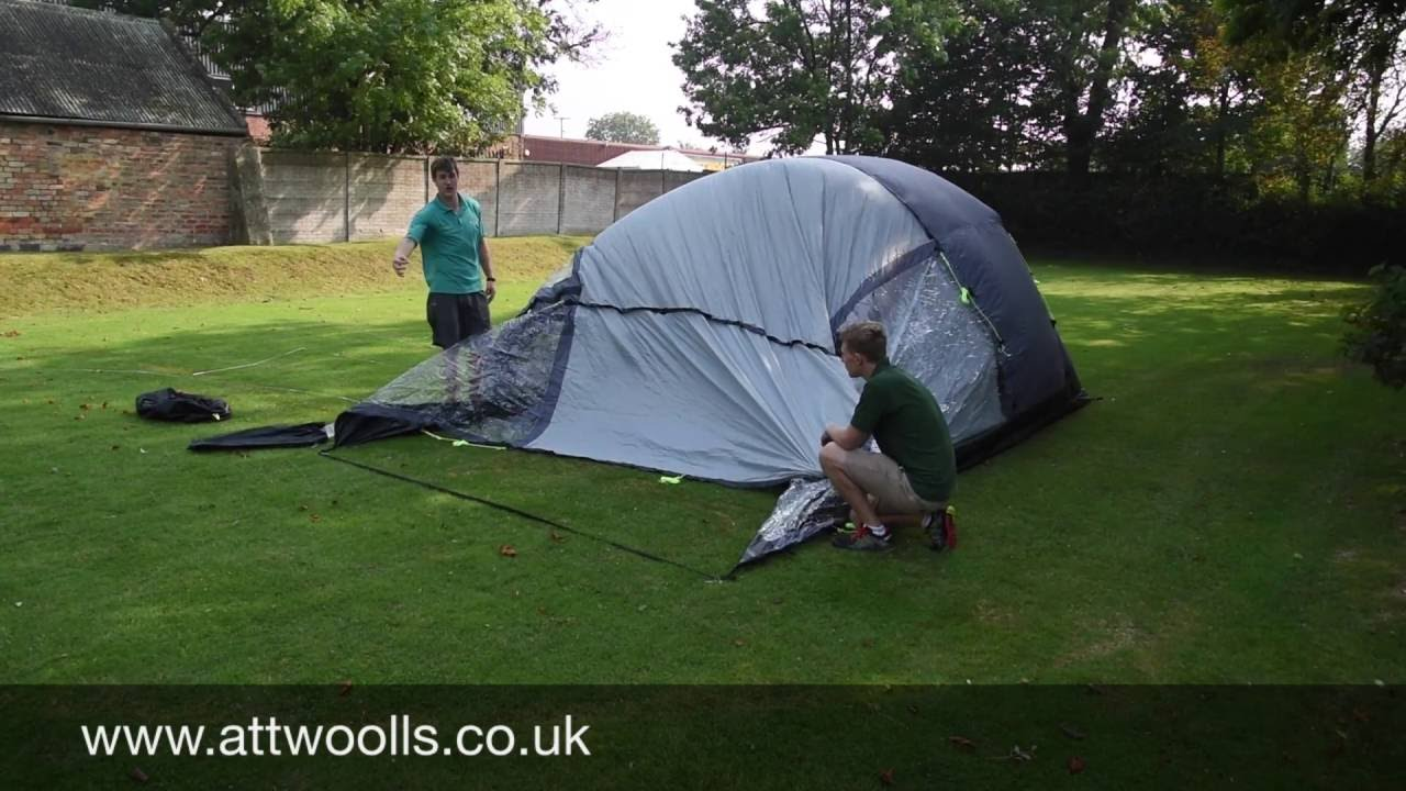How to pitching a Tunnel Tent (Tutorial Video) & How to pitching a Tunnel Tent (Tutorial Video) - YouTube