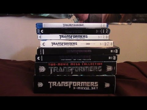 My ENTIRE Transformers Movie Collection on Blu Ray and DVD