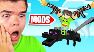 Playing MINECRAFT With MODS For The FIRST TIME!