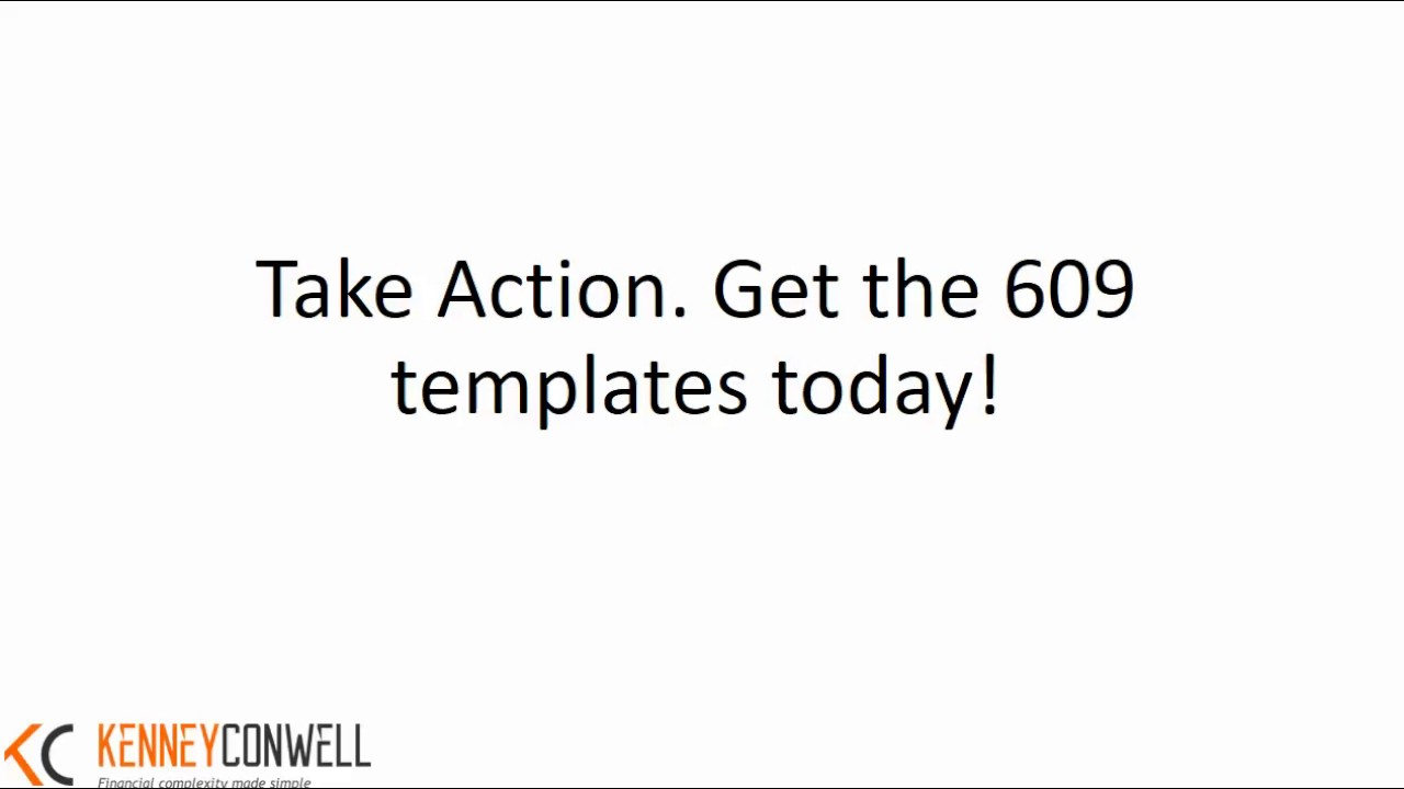 Get The Section 609 Templates Today Youtube