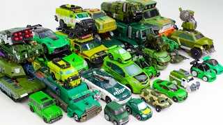 Green Color Transformers Carbot Tobot Megatron Tank Army 40 Vehicles Transformation Robot Car Toys