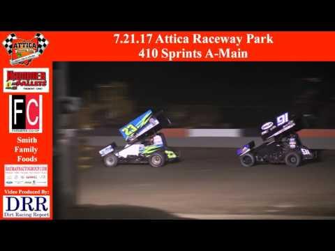 7.21.17 Attica Raceway Park 410 Sprints A Main