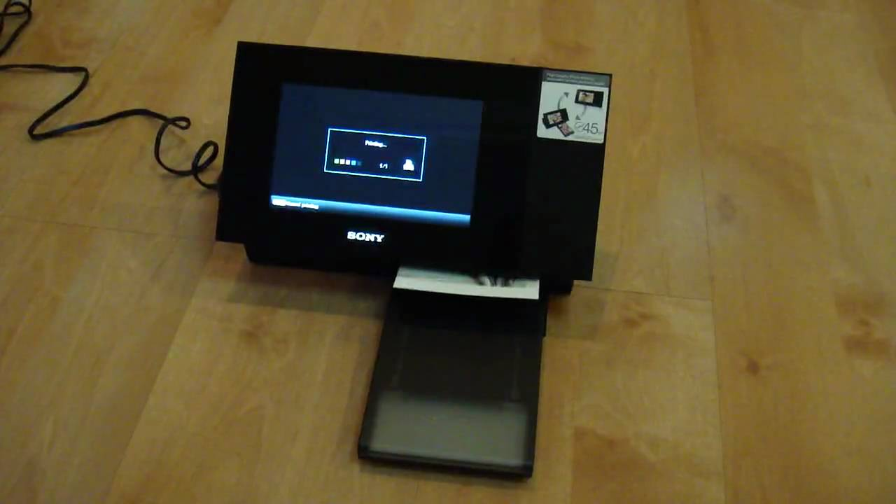 Sony Digital S-Frame DPP F700\'s print function - YouTube