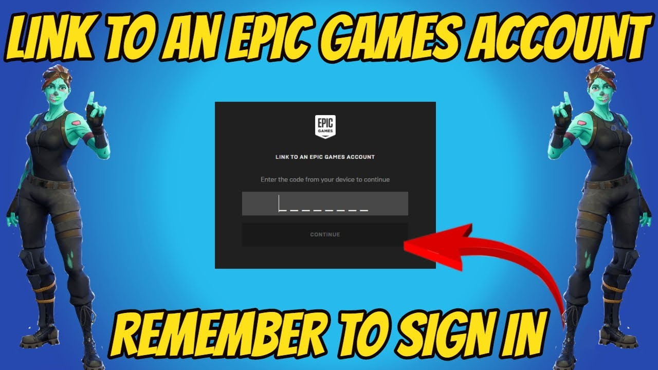 link To An Epic Games Account (How To Sign In) - YouTube
