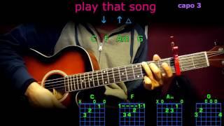play that song train acordes en guitarra