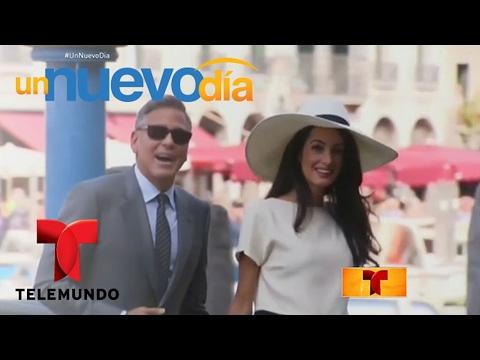 George Clooney y su esposa están esperando mellizos | Un Nuevo Día | Telemundo