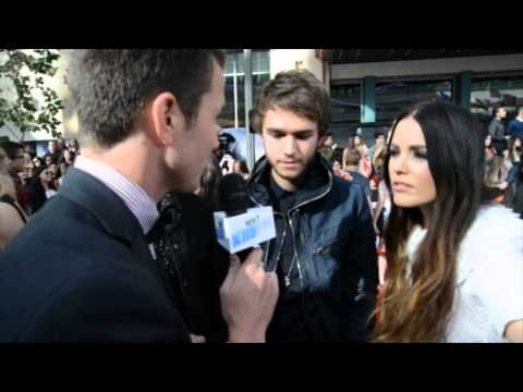 On The 2014 MTV Movie Awards Red Carpet With Zedd, Matthew Koma, And Miriam Bryan