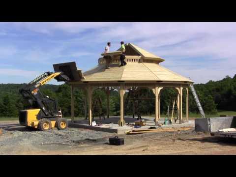 Beautiful Prefab Gazebo Installation by Lancaster County Backyard