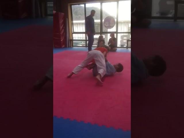 7 year old girl Shyla Mulholland Brazilian jiu jitsu class match