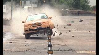 Brifen Wire Rope Barrier Crash Test - Rover 75