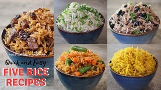5 Quick and Easy  Rice Recipes  I Nanaaba's Kitchen  I  Quick and Easy Tasty Lunch and Dinner ideas