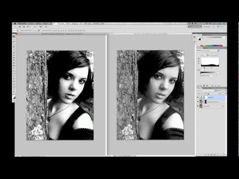 tuto photoshop photo en  noir et blanc HD