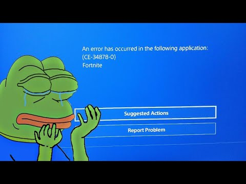 Fortnite an error has occurred in (CE-34878-0) PS4 PRO