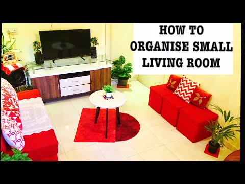 How to organise small living room | Living room organisation and living room tour | Drawing Room