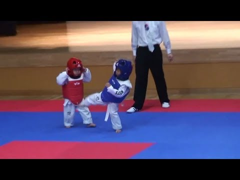 The Best Taekwondo Fight EVER!!!! The Cutest Thing Ever !