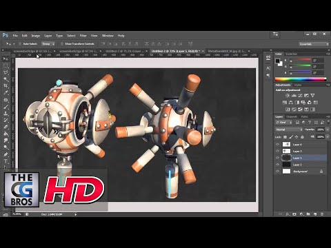 "CGI 3D Tutorial HD: ""Model Presentation in Photoshop"" - by 3dmotive"