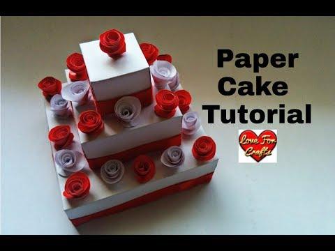 Paper Cake Tutorial | How to Make Birthday Cake