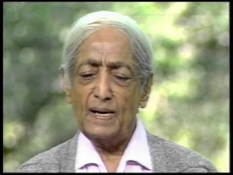 What is an action and state of being that is pure?  J Krishnamurti