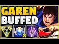 WTF?! RIOT 100% MADE GAREN TOO STRONG! BUFFED GAREN SEASON 9 TOP GAMEPLAY! - League of Legends
