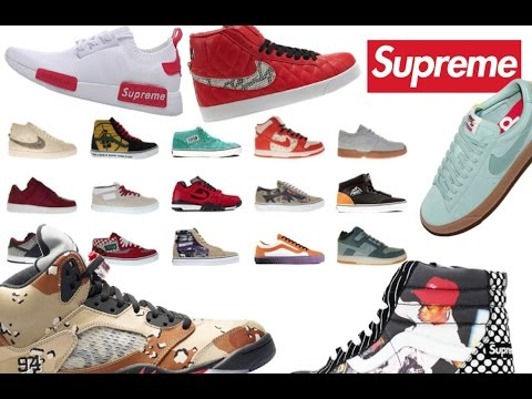 36671e7a58cc Supreme Shoes Collection  Every shoes that EVER released! - YouTube