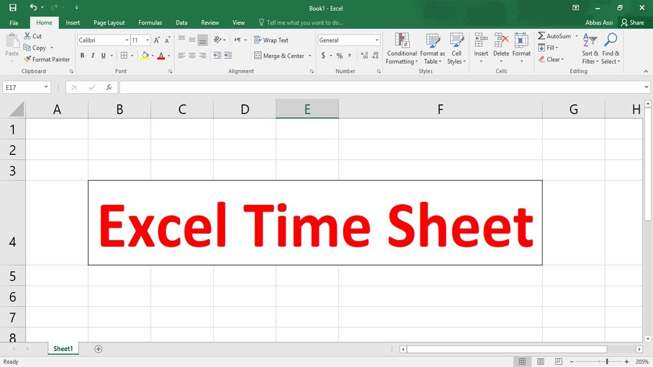 excel timesheet youtube