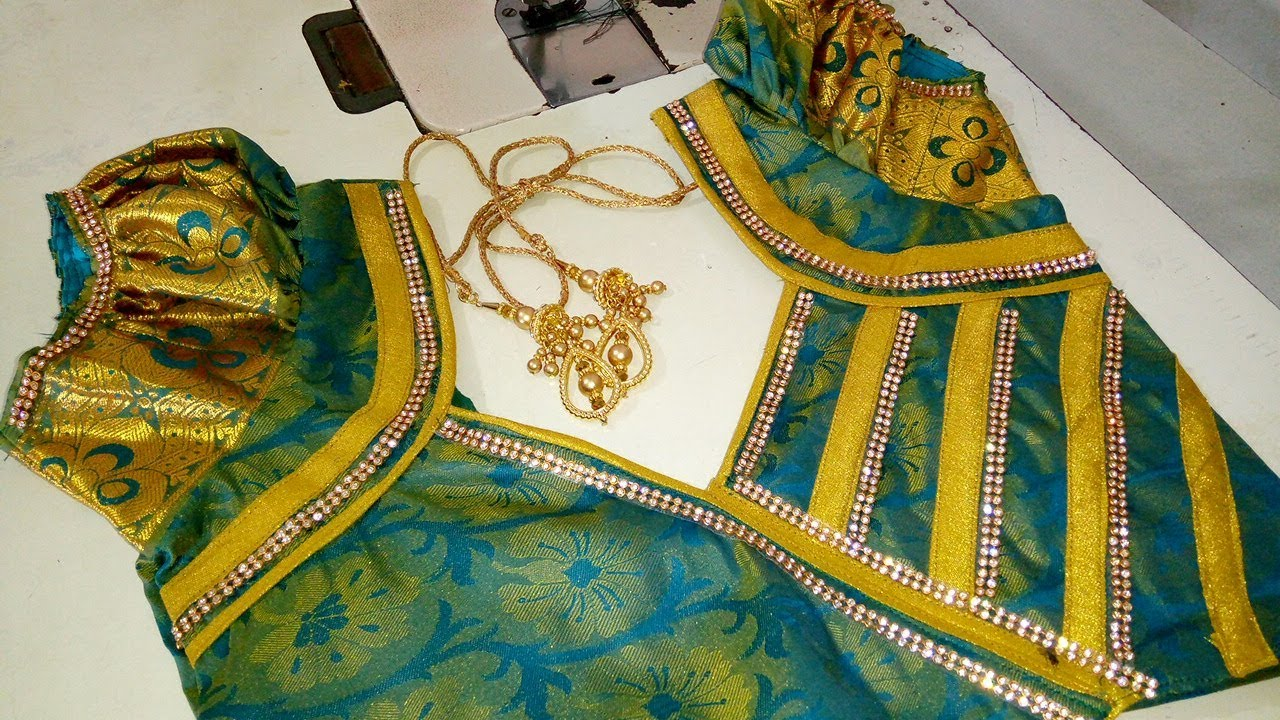 cc89962c63 Silk saree blouse design | New blous design tailoring class in tamil ...