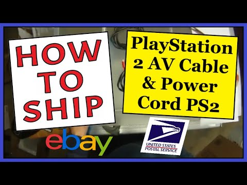 How To Ship a PlayStation 2 PS2 AV Cable & Power Cord   Easy, Fast & Cheap   USPS First Class Mail