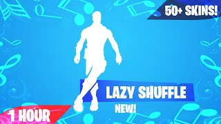 Fortnite - LAZY SHUFFLE Emote (1 Hour) (Music Download Included) (Skin Showcase)