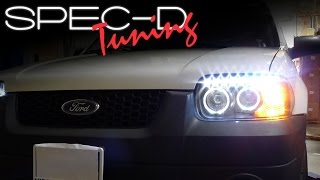 SPECDTUNING INSTALLATION VIDEO: 2005 - 2007 FORD ESCAPE LED PROJECTOR HEADLIGHTS