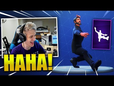 NINJA REACTS *NEW* SQUAT KICK DANCE/EMOTE - Fortnite Best & Funny Moments (Fortnite Battle Royale)