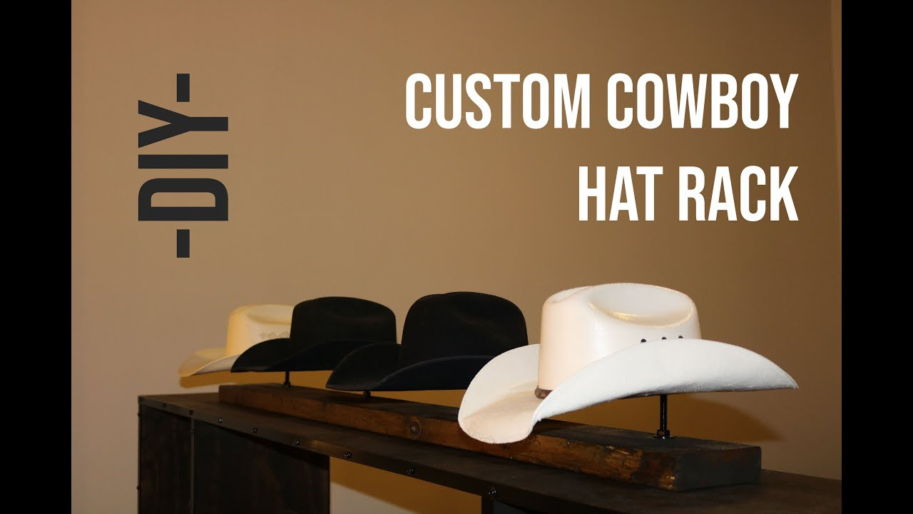 how to build a custom cowboy hat rack a diy video tutorial
