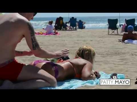 rub oil bikini
