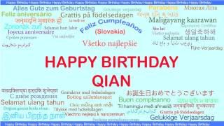 Qian   Languages Idiomas - Happy Birthday