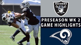 Raiders vs. Rams Highlights | NFL 2018 Preseason Week 2