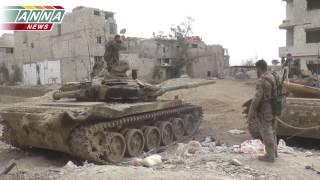 Každodenní služba v Syrské armádě - reportáž ze zničení pozic teroristů na předměstí Damašku