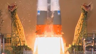 Several Angle Footage Of Soyuz-2.1a Launching Kanopus-V-IK, Flying Laptop, Mayak
