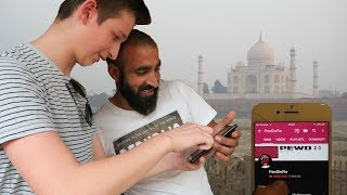 so I flew to India to Save PewDiePie vs T-Series...