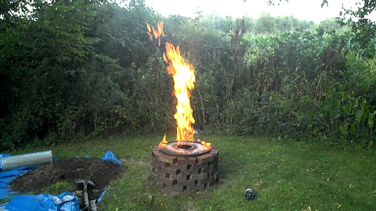 Tlud Firepit video two