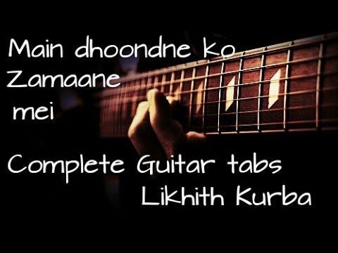 Main dhoondne ko zamane mein - Heartless Complete Guitar tabs ...