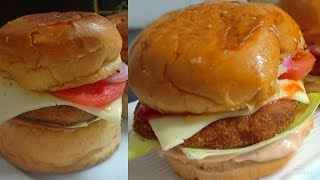 Veg Burger And Chicken Patty Burger Recipe For Iftar | Iftar Special Recipe In Ramadan |