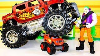 Мультики про машинки Вспыш и чудо машинки Игрушки Вспыш против Джокера Мультфильмы для детей